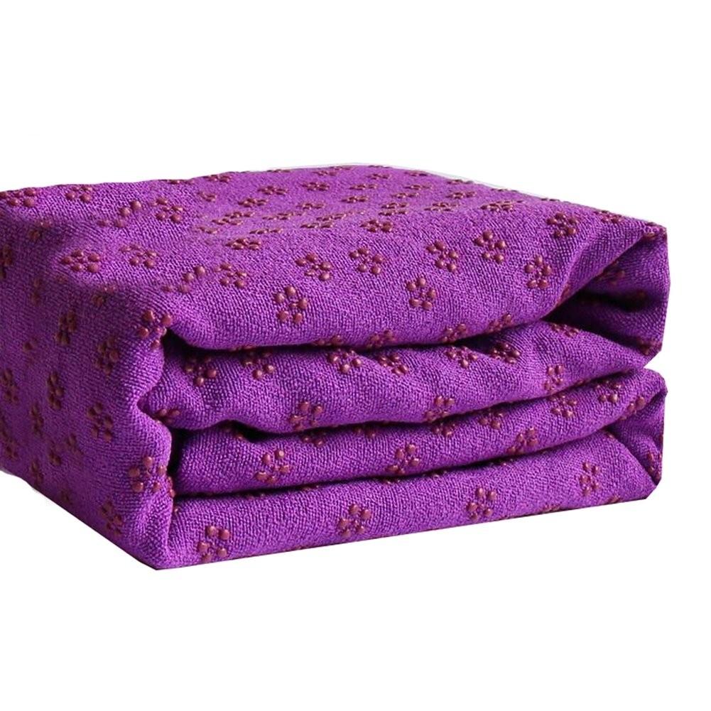 Serviette pour tapis de yoga antidérapante en microfibres 183x61cm