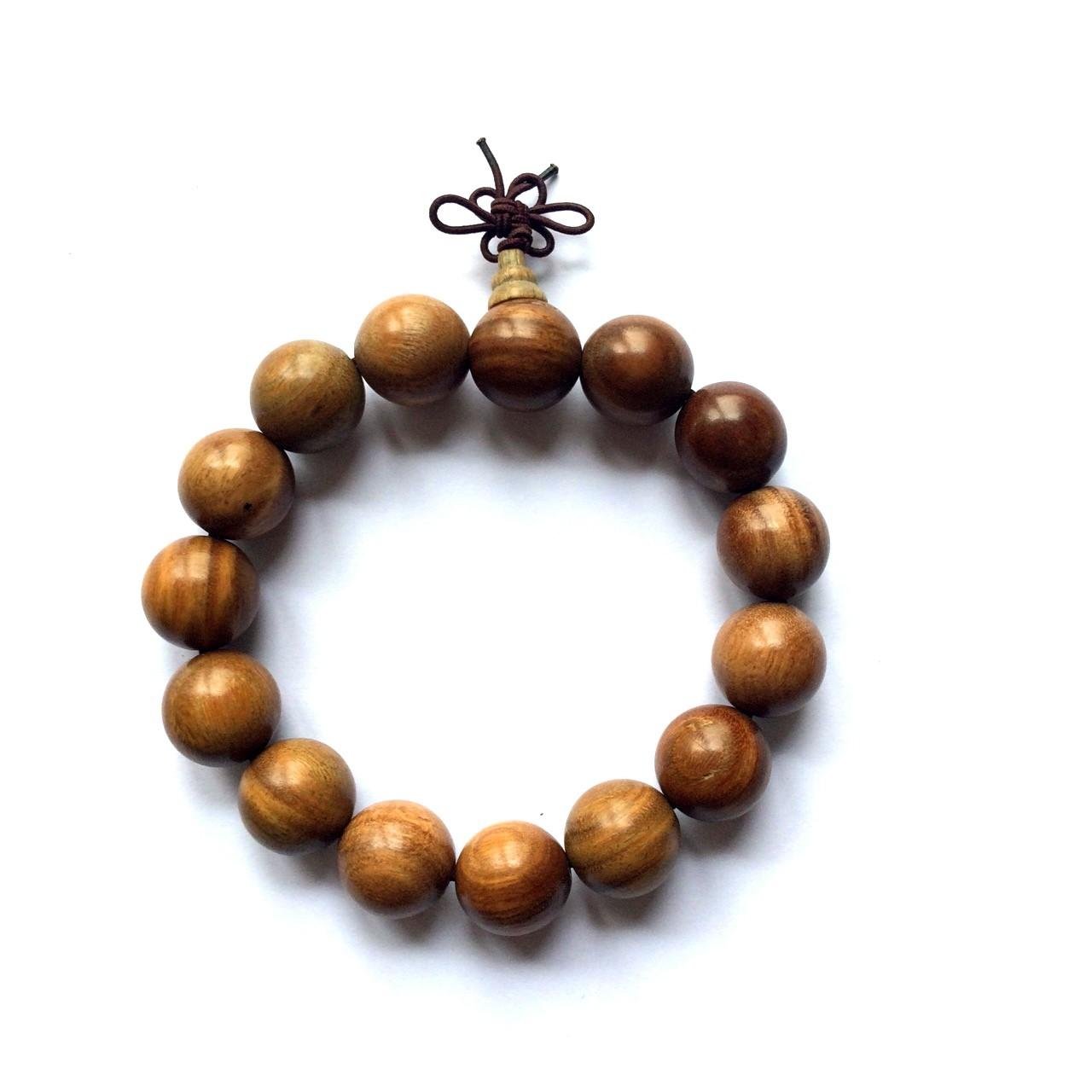Bracelet mala tibétain - Bois