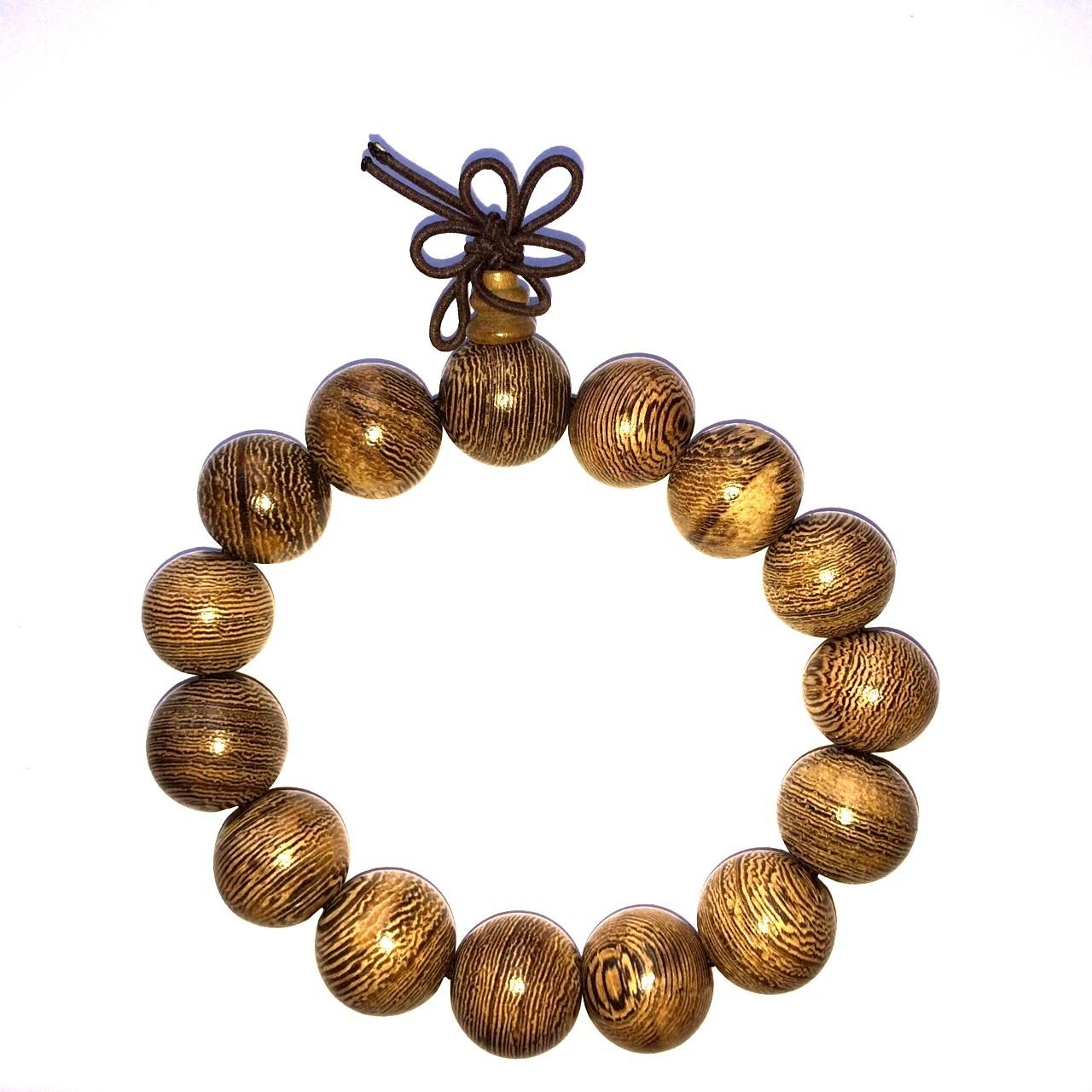 Bracelet mala tibétain - Bois de boddhi