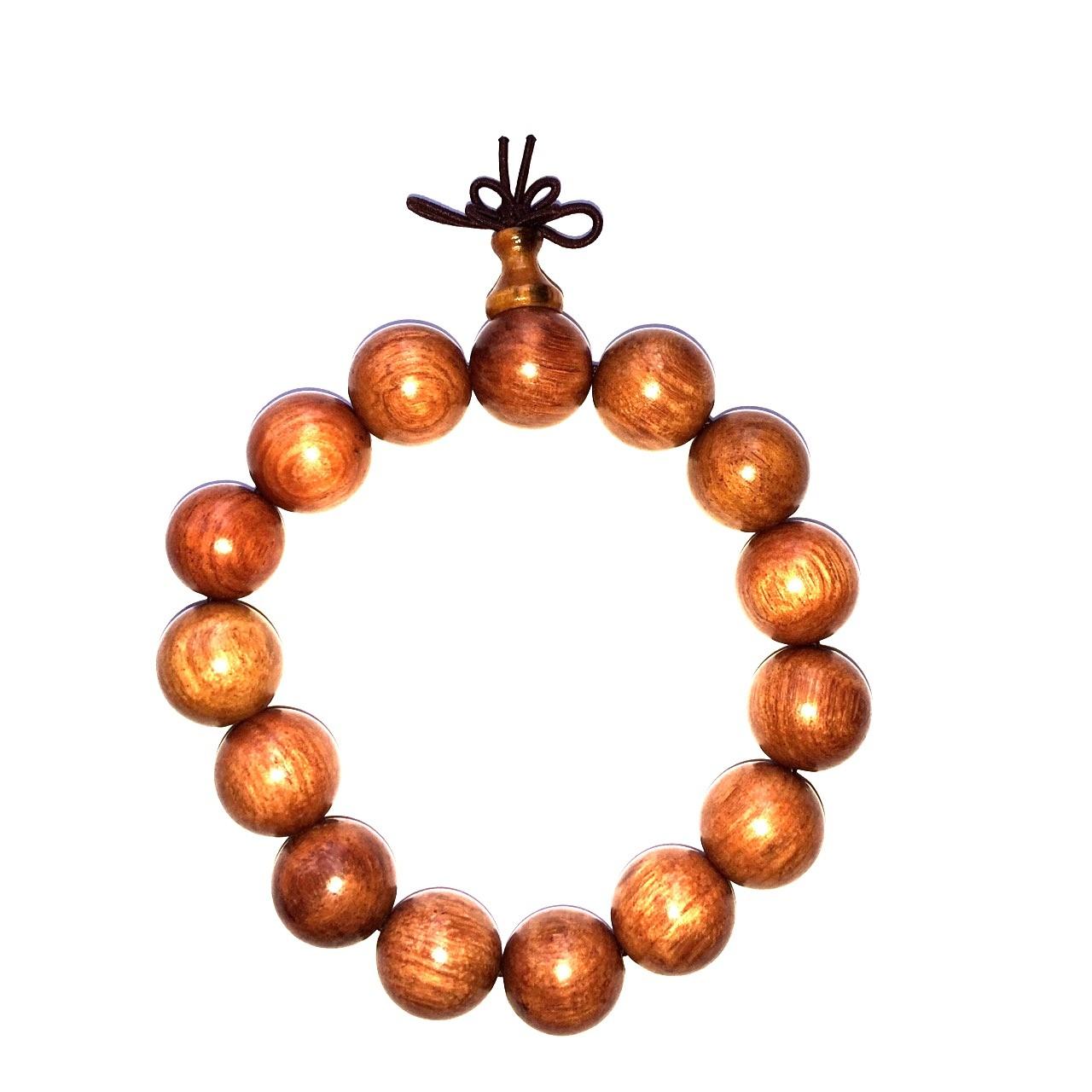 Bracelet mala tibétain - Bois de rose