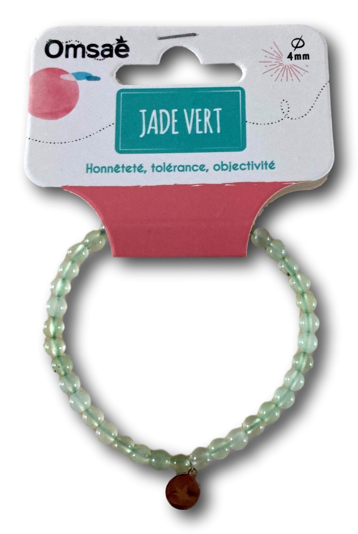 Bracelet jade vert perles rondes