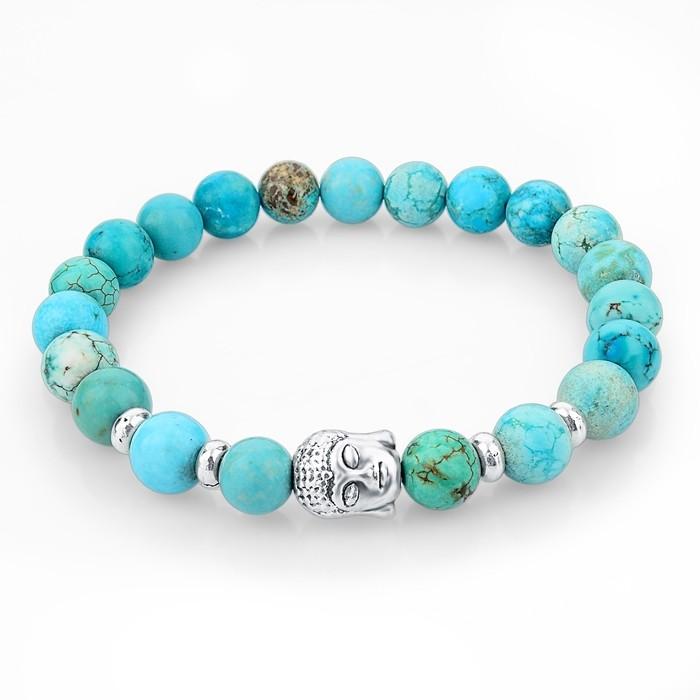 Bracelet pierres naturelles - turquoise bouddha