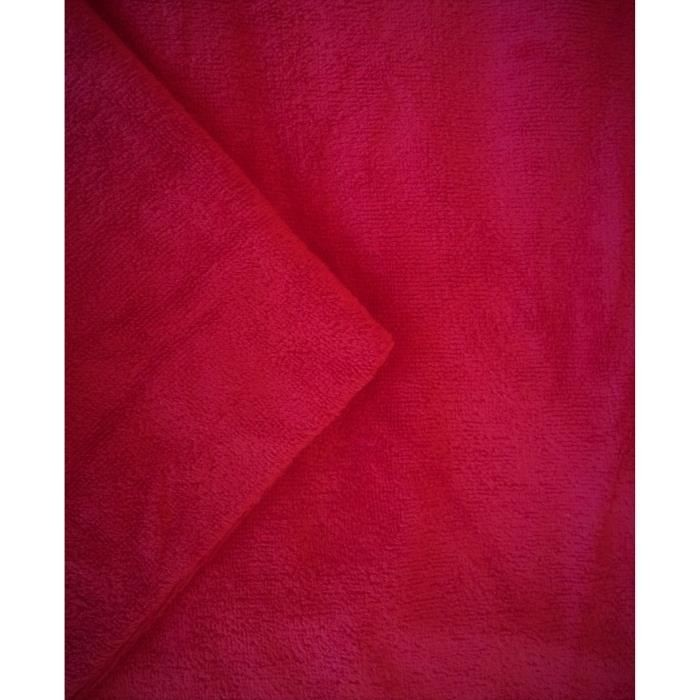 Lot de 3 housses de table en tissu éponge - coloris framboise - Taille L