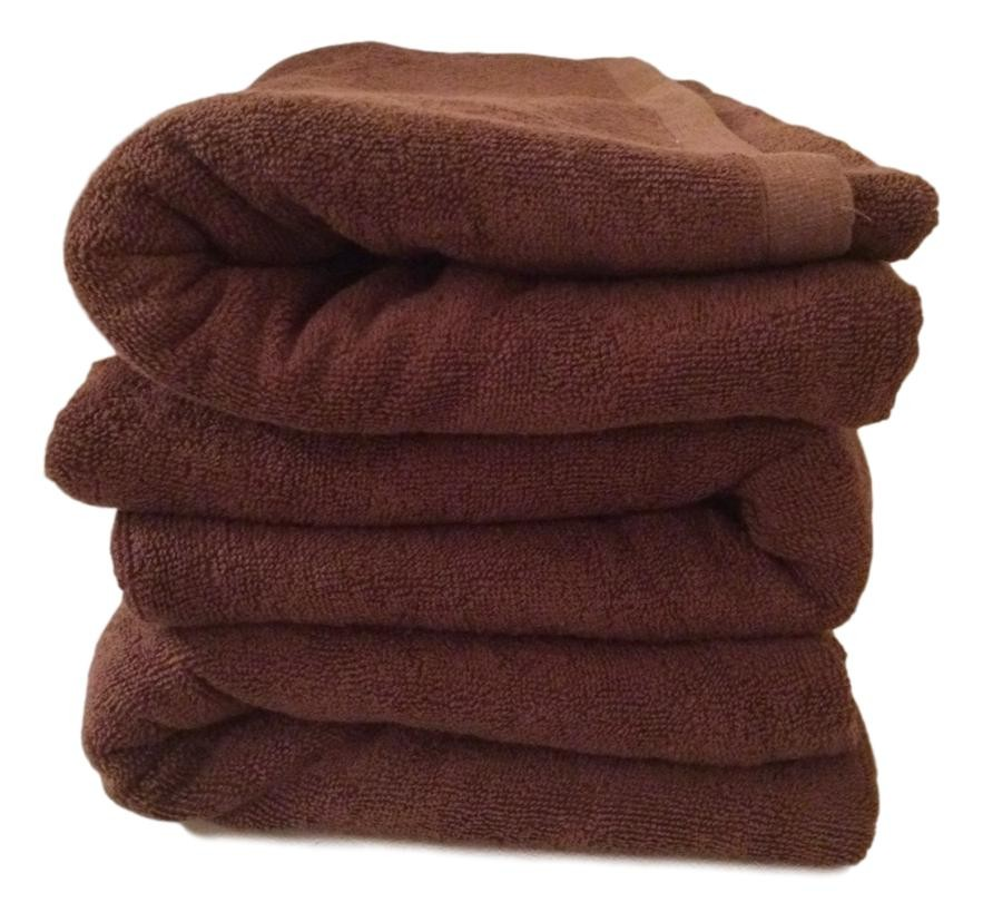 Lot de 3 Serviettes de massage Chocolat gamme spa 90 x 200 cm