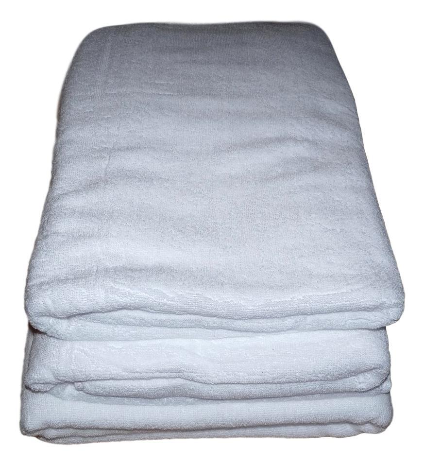 Lot de 3 Serviettes de massage Blanches gamme spa 90 x 200 cm