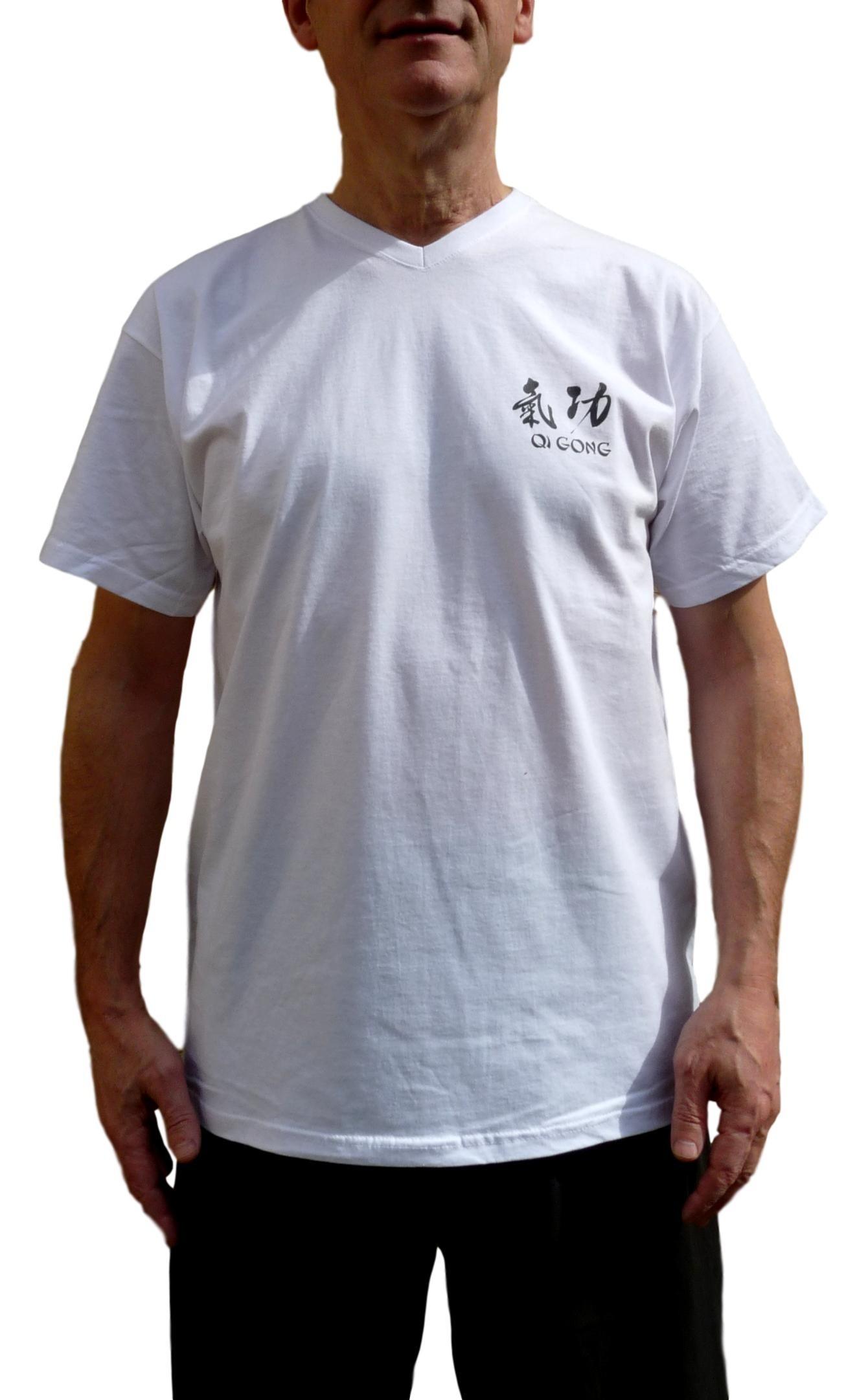 Tee-shirt Qi gong blanc - 100% coton