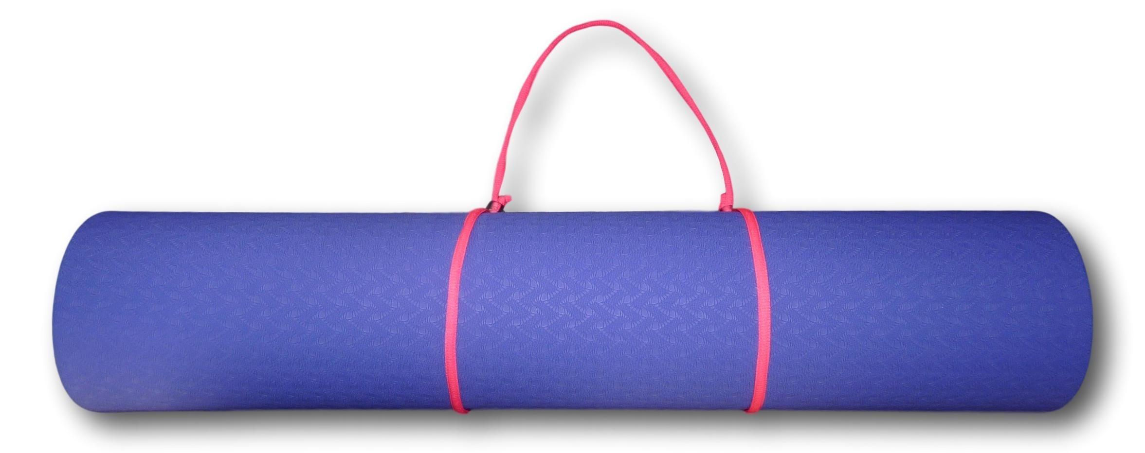 Tapis de yoga et son cordon de transport