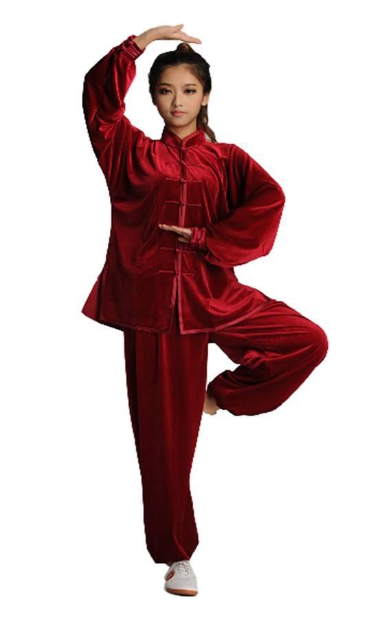 Tenue deluxe en velours de coton Rouge