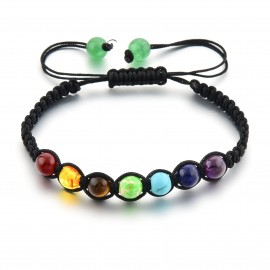 Bracelet ajustable 7 chakras
