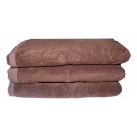 Lot de 3 Serviettes de massage Chocolat gamme spa 70 x 140 cm