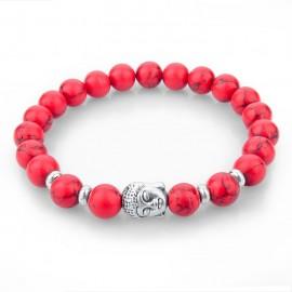 Bracelet pierres naturelles - rouge bouddha