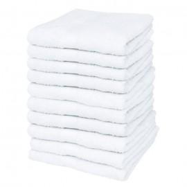 Lot de 10 serviettes de massage blanches 70x140 cm