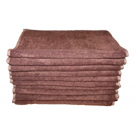 Lot de 10 Serviettes de massage Chocolat gamme spa 34 x 76 cm