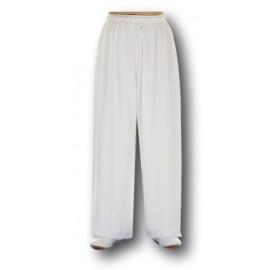 Pantalon coton et lin blanc