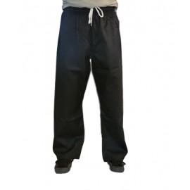 Pantalon coton noir droit