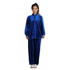 Qi gong/Taichi - Tenue deluxe Bleu roi