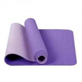 Tapis de yoga antidérapant TPE 183x61cm violet