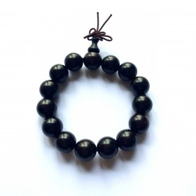 Bracelet mala tibétain - Bois de santal noir