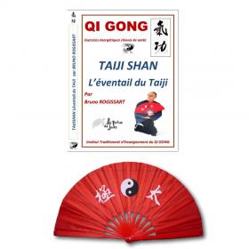 """Set DVD """"l'éventail du taiji"""" + éventail yin yang"""