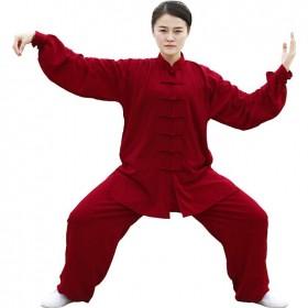 Tenue rouge en voile de coton