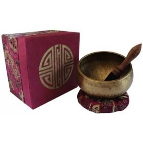 Bol chantant népalais qualité supérieure - set complet Bordeaux